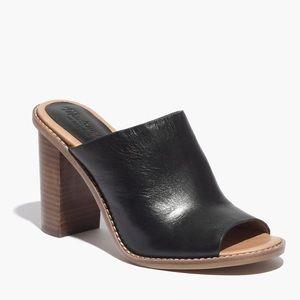 Madewell, Black Finch mule sandal, size 8 1/2